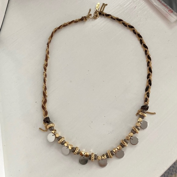 LF Jewelry - LF Gold Silver Boho Leather Chain Necklace